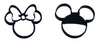 "Mickey and Minnie Mouse Heads Disney Set of 2 Special Occasion Fondant Stamp Cutter or Cupcake Topper Size 1.75"" Made in USA FD1017"