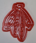 "6x Blackhawks Feathers Hockey Fondant Cutter Cupcake Topper Size 1.75"" USA FD735"