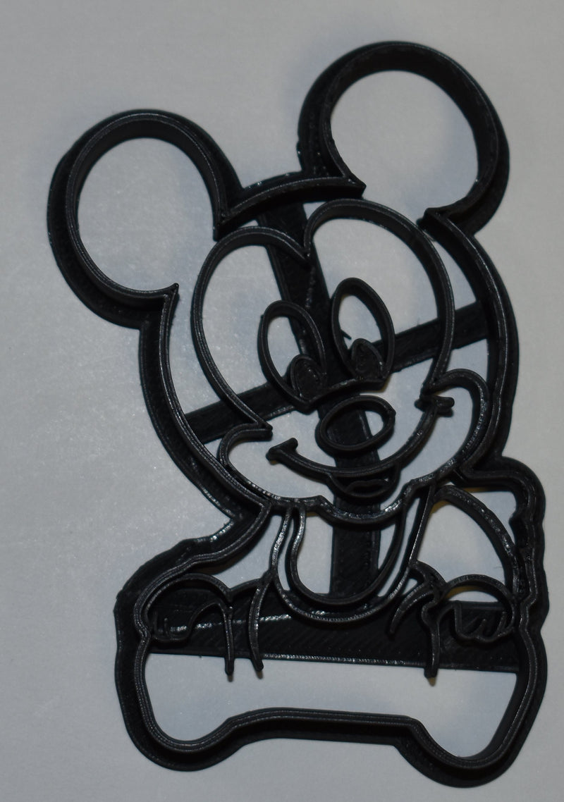 "Baby Mickey Mouse Disney Character Special Occasion Fondant Stamp Cutter or Cupcake Topper Size 1.75"" Made in USA FD760"