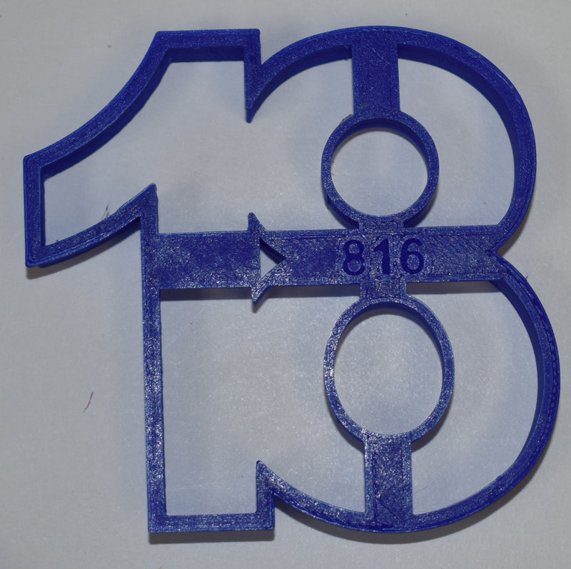 "Number 18 Eighteen Birthday Anniversary Sports Celebration Party Special Occasion Fondant Stamp Cutter or Cupcake Topper Size 1.75"" Made in USA FD108-18"