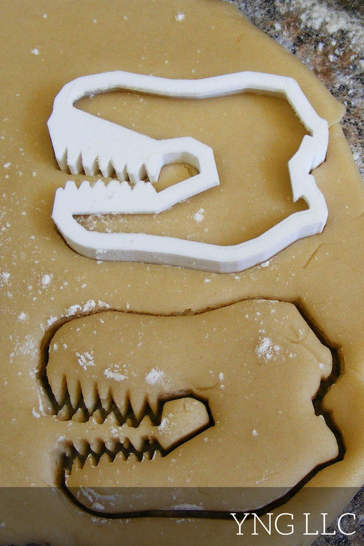 T-Rex Dinosaur Tyrannosaurus Rex Special Occasion Cookie Cutter Baking Tool Made in USA PR92