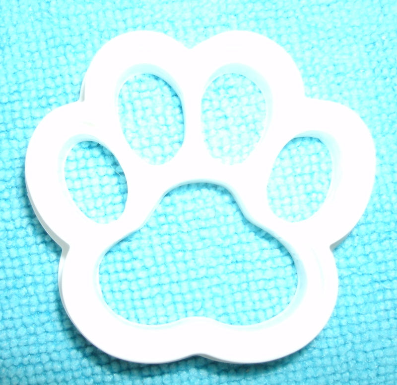"Paw Print Dog Cat Special Occasion Fondant Stamp Cutter or Cupcake Topper Size 1.75"" Made in USA FD744"
