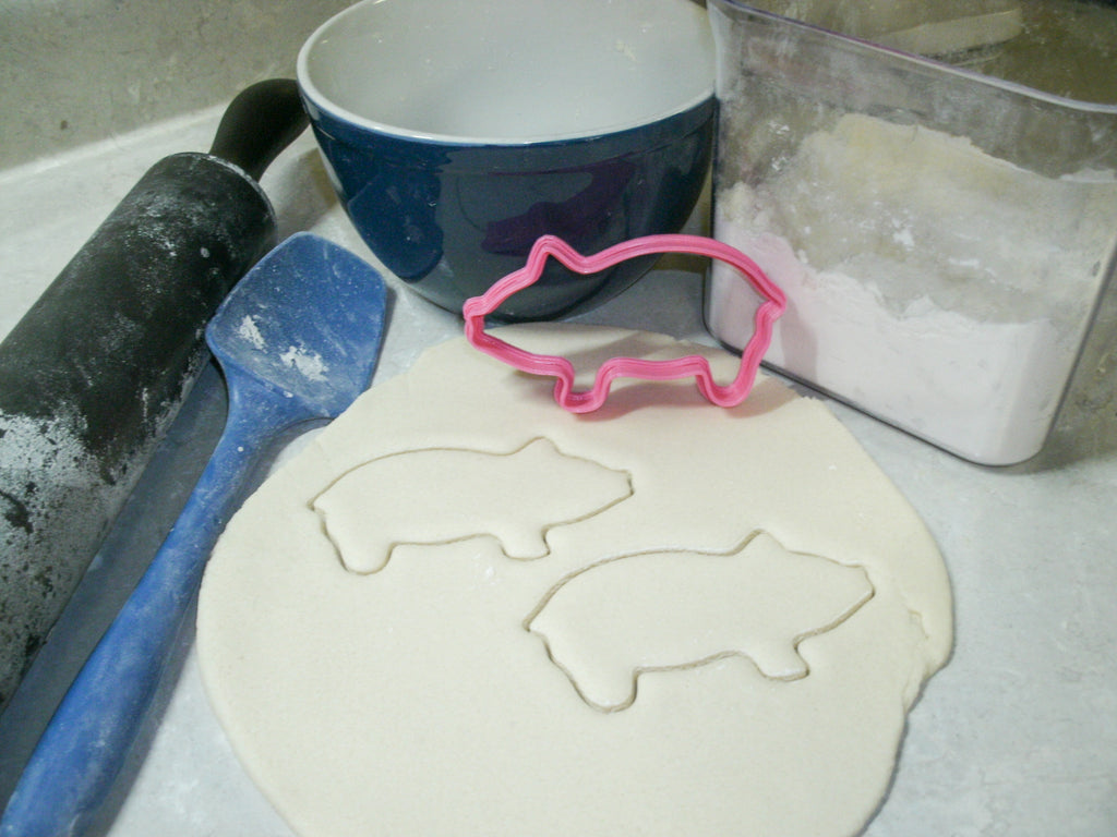 Pig Piggy Hog Farm Animal Special Occasion Cookie Cutter Baking Tool Made In USA PR441