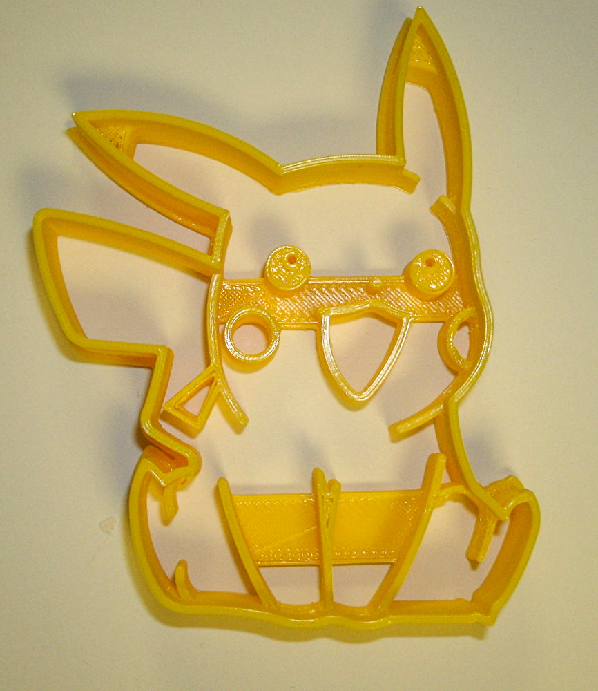 "6x Pikachu Electric Pokemon Fondant Cutter Cupcake Topper Size 1.75"" USA FD870"