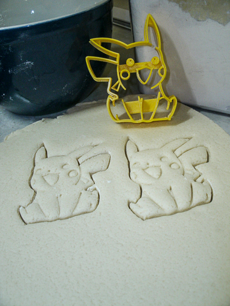 Pikachu Electric Type Pokemon Yellow Mouse Special Occasion Cookie Cutter Baking Tool Made in USA PR870