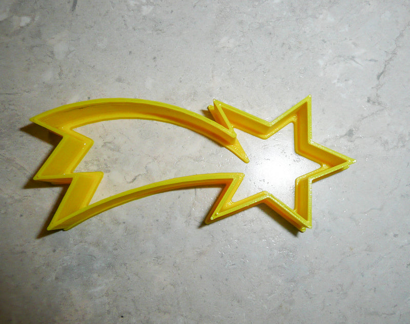 "Shooting Falling Star Holiday Celebration Special Occasion Fondant Stamp Cutter or Cupcake Topper Size 1.75"" Made in USA FD407"