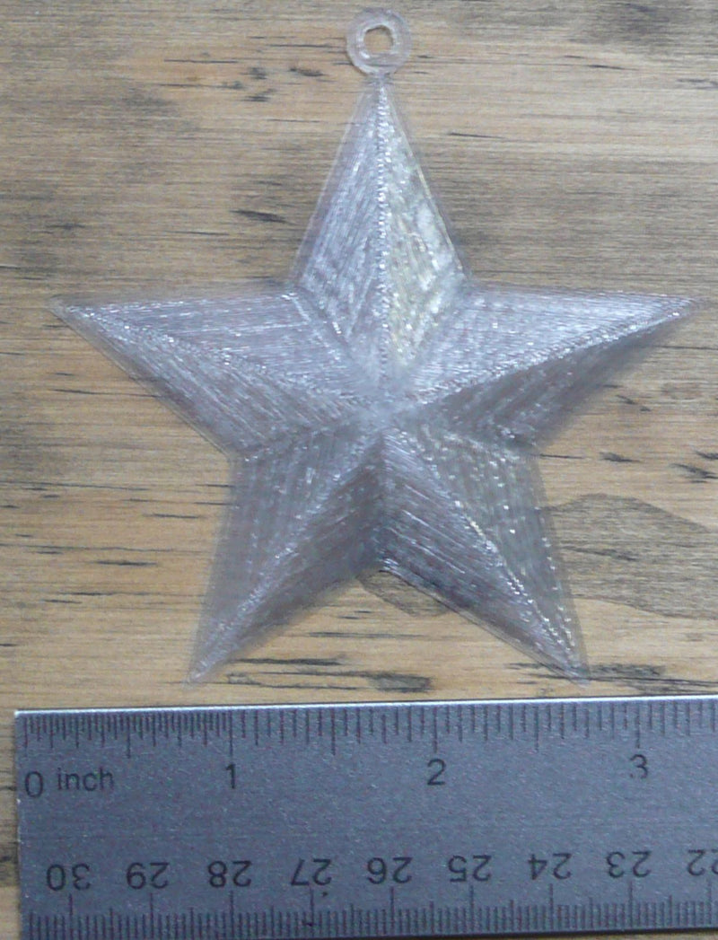 3D Star Home Decor Holiday Christmas Ornament Wall Art 3D Printed USA PR186