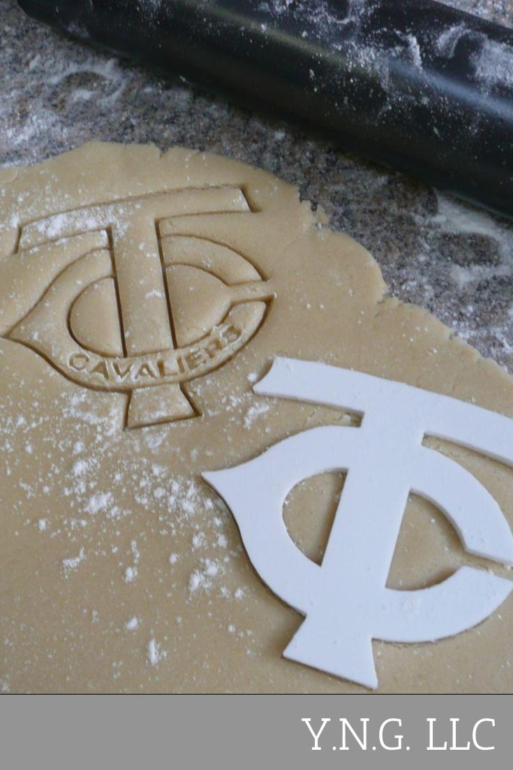 TC Tri County High School Cavaliers Sports Letters Logo Special Occasion Cookie Cutter Baking Tool Made In USA PR328