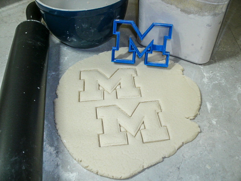 University Of Michigan Wolverines College Sports Athletics Logo Special Occasion Cookie Cutter Baking Tool Made in USA PR877