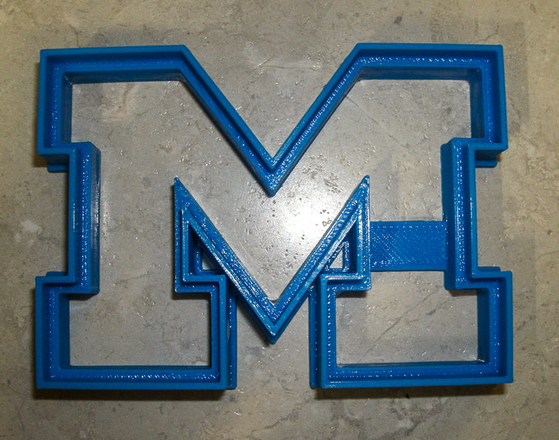 "University Of Michigan Wolverines College Sports Athletics Logo Special Occasion Fondant Stamp Cutter or Cupcake Topper Size 1.75"" Made in USA FD877"