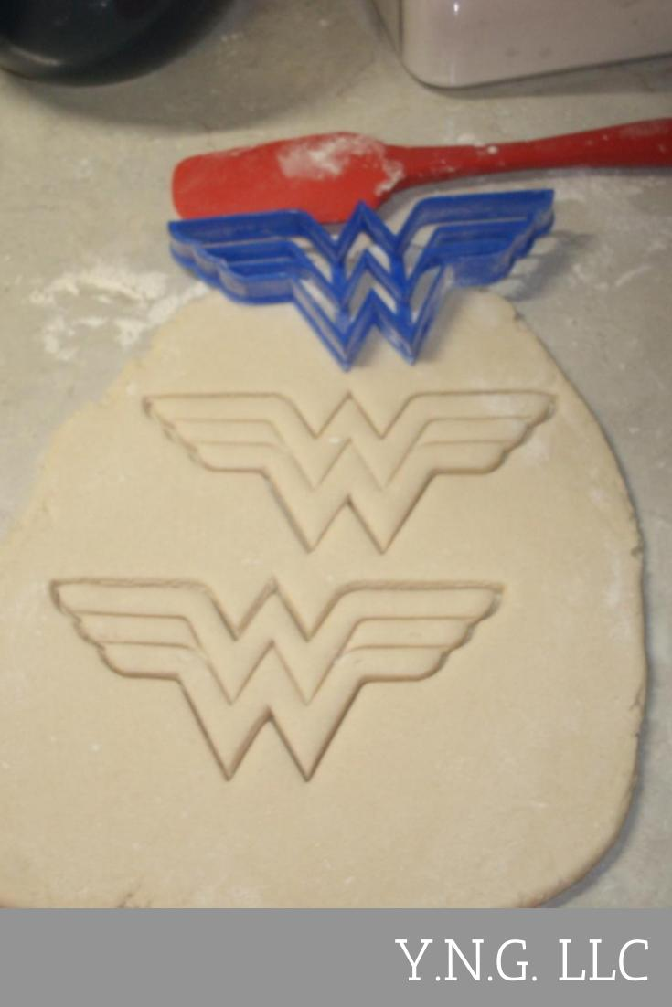 Wonder Woman Superhero Logo Cookie Cutter Baking Tool Made In USA PR511