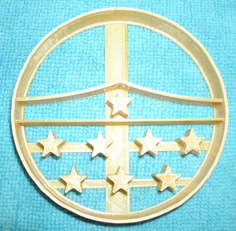 "Wonder Woman Tiara Crown Stars DC Comics Special Occasion Fondant Stamp Cutter or Cupcake Topper Size 1.75"" Made in USA FD636"