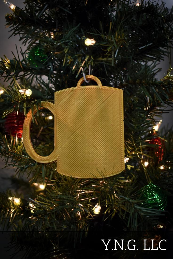 Coffee Mug Tea Cocoa Cup Of Joe Hanging Ornament Holiday Christmas Decor Made In USA PR2276