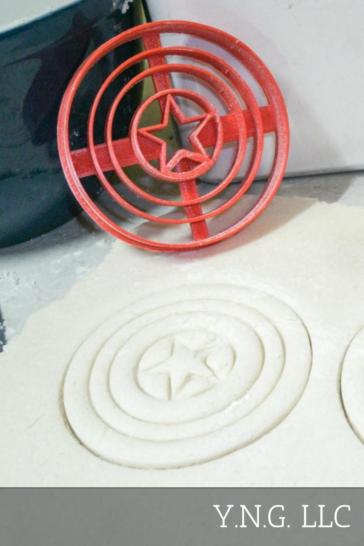 Captain America Superhero Marvel Character Special Occasion Cookie Cutter Baking Tool Made in USA PR490