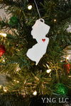Florida State Outline Tallahassee Red Heart Cutout Hanging Ornament Holiday Christmas Decor Made In USA PR244-FL