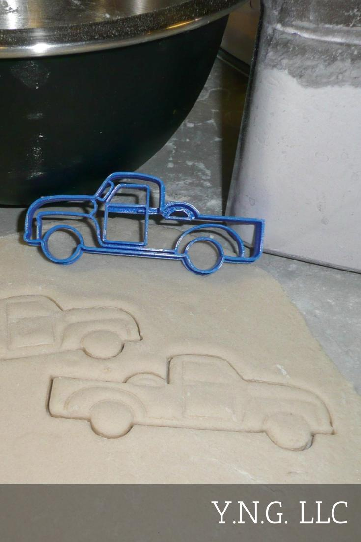 Classic Pickup Pick Up Truck Vintage Vehicle Special Occasion Cookie Cutter Baking Tool Made In USA PR281