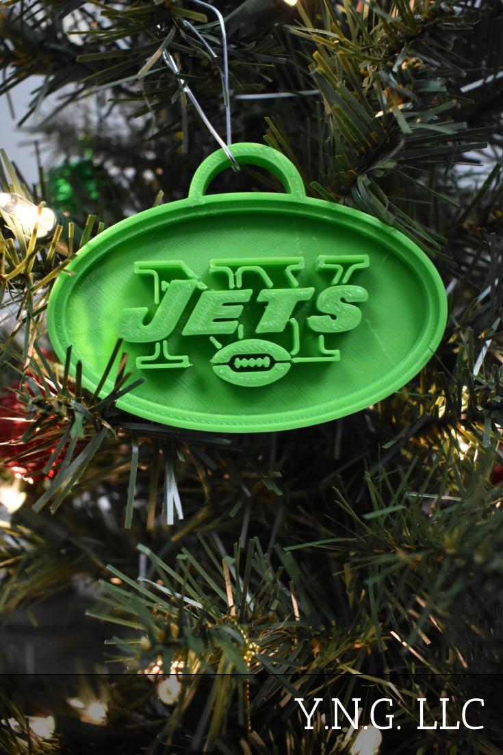 New York Jets NFL Football Logo Hanging Ornament Holiday Christmas Decor Made In USA PR2069
