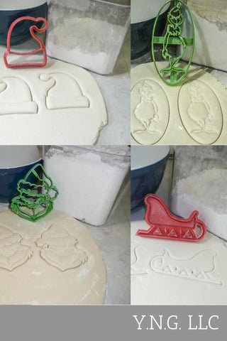 Joy J O Y Christmas Tree Holiday Winter Set Of 7 Cookie Cutters USA PR1190