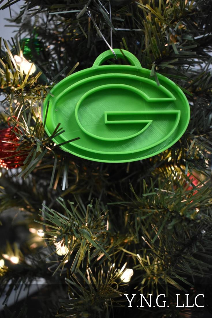 Green Bay Packers NFL Football Logo Hanging Ornament Holiday Christmas Decor Made In USA PR2060