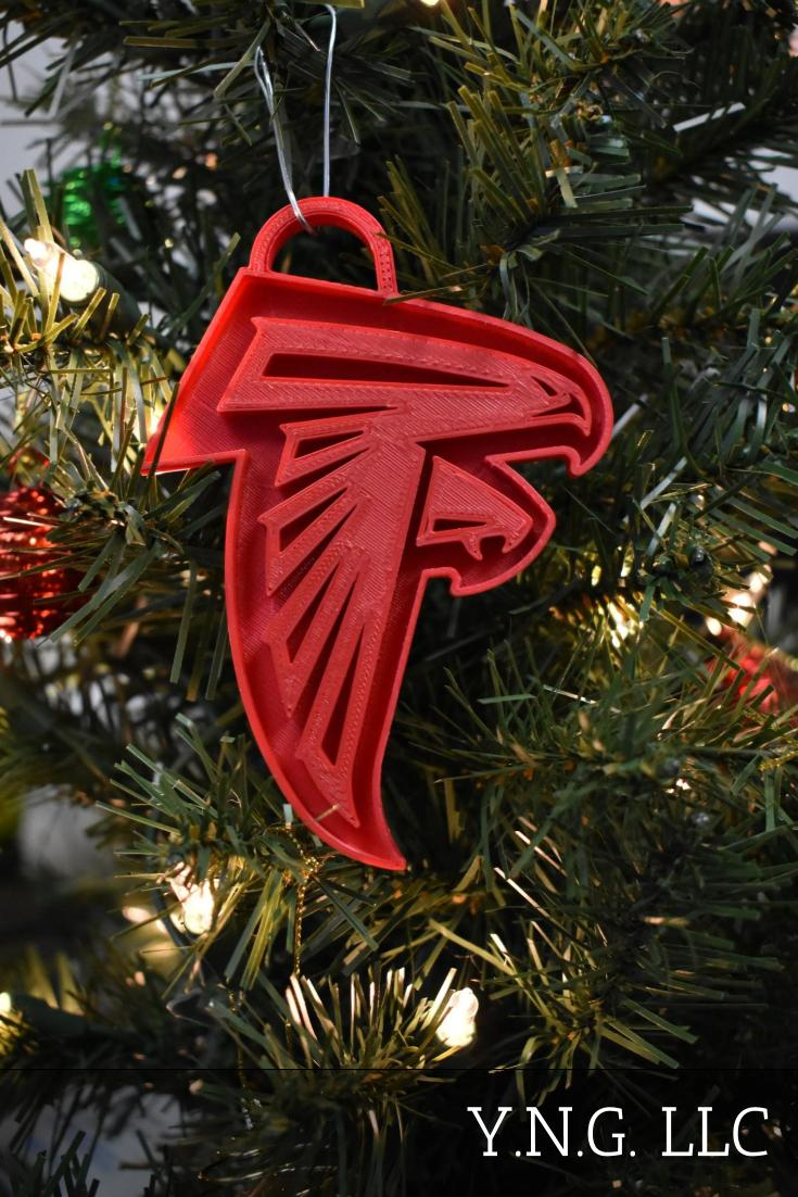 Atlanta Falcons NFL Football Logo Hanging Ornament Holiday Christmas Decor Made In USA PR2062