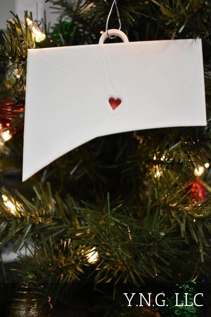 Connecticut State Outline Hartford Red Heart Cutout Hanging Ornament Holiday Christmas Decor Made In USA PR244-CT