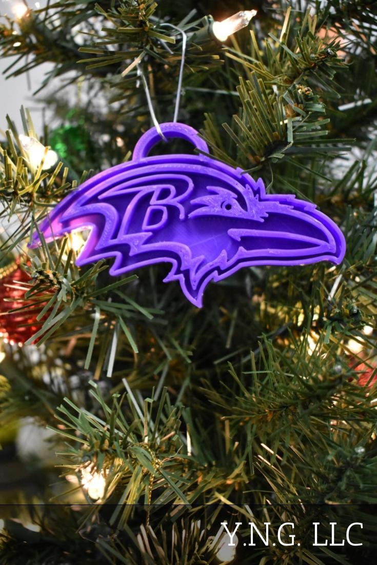 Baltimore Ravens NFL Football Logo Hanging Ornament Holiday Christmas Decor Made In USA PR2074