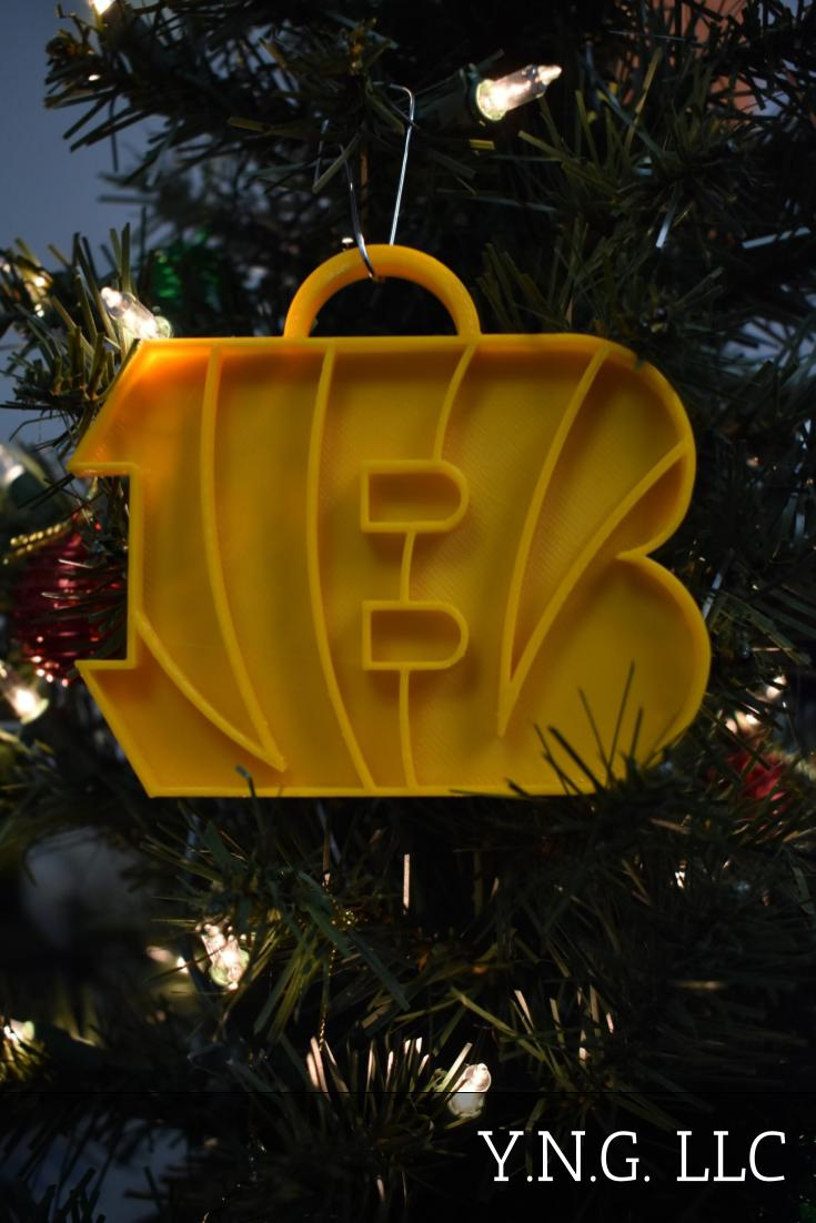 Cincinnati Bengals NFL Football Logo Hanging Ornament Holiday Christmas Decor Made In USA PR2075