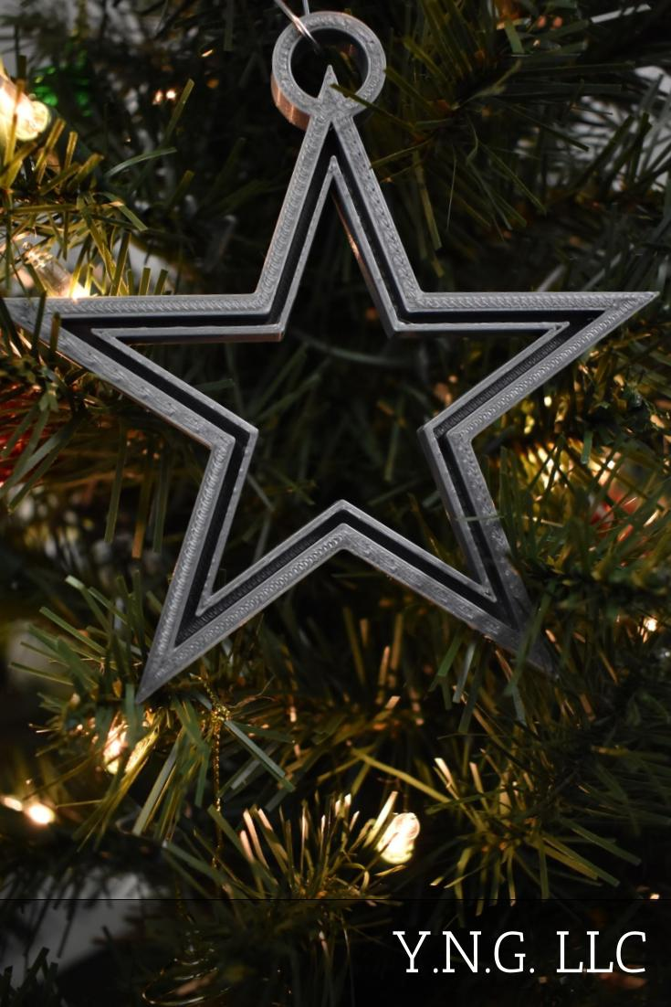 Dallas Cowboys Star NFL Football Ornament Holiday Christmas Decor USA PR2050