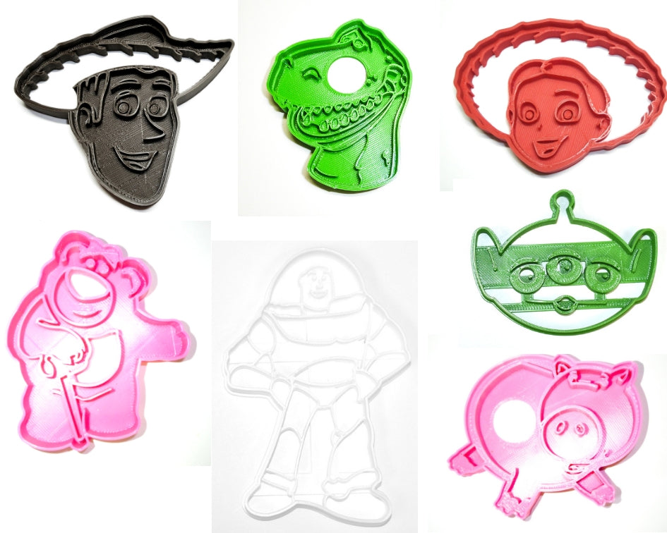 Toy Story Disney Pixar Characters Buzz Woody Jessie Rex Hamm Lotso LGM Set Of 7 Special Occasion Cookie Cutters Baking Tool Made In USA PR1003