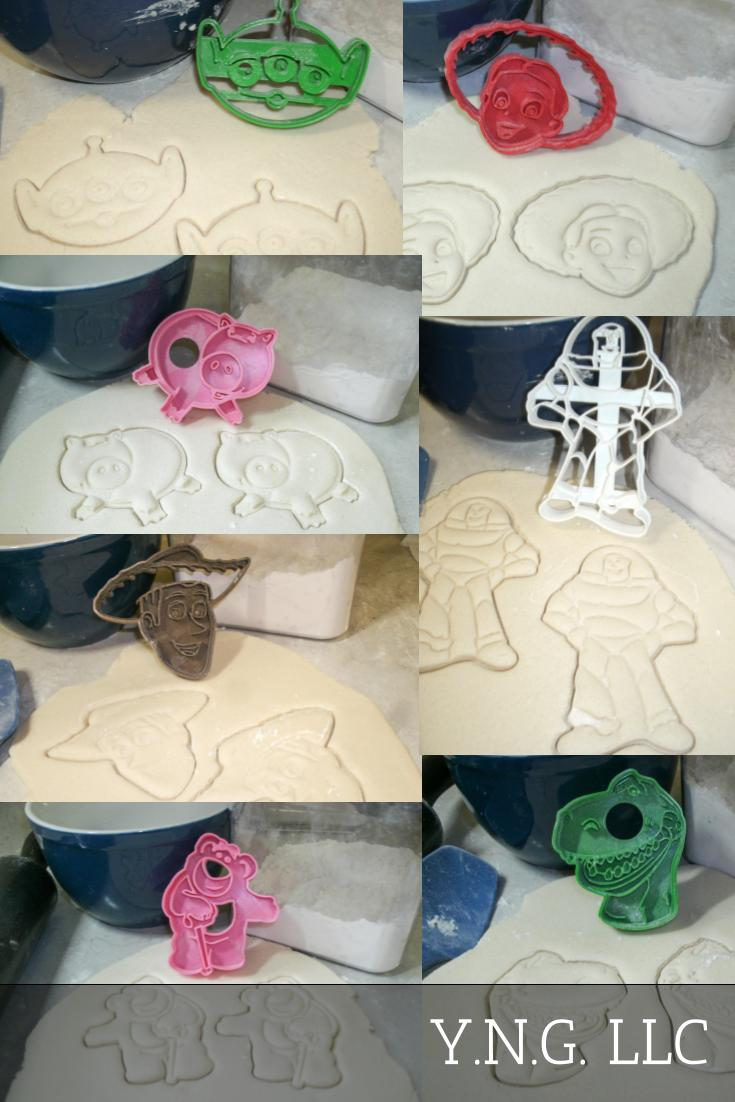 Toy Story Characters Woody Jessie Buzz Alien Set of 7 Cookie Cutters USA PR1003