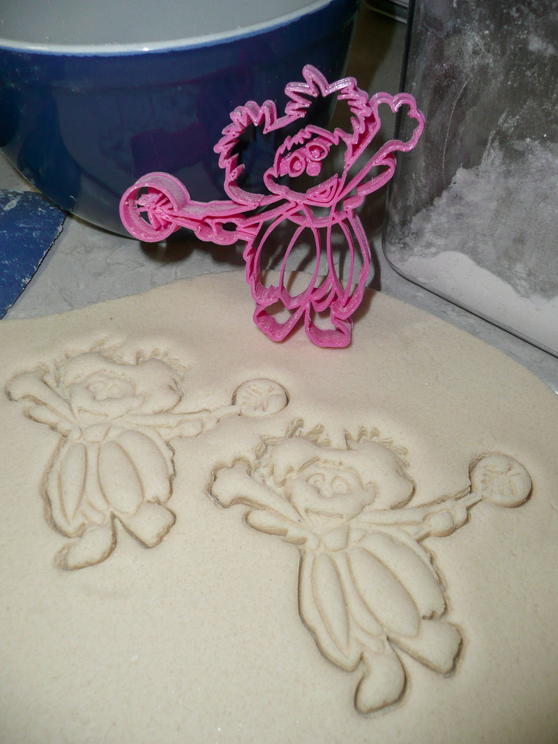 Abby Cadabby Sesame Street Muppet Character Fairy In Training Kids TV Show Special Occasion Cookie Cutter Baking Tool Made In USA PR2015
