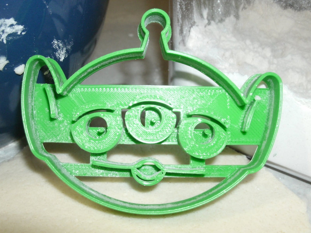 Pizza Planet Toy Story Little Green Men Alien The Claw Game Spaceship Truck Sign Logo Pizza Slice Set Of 4 Special Occasion Cookie Cutter Baking Tool Made In USA PR1179
