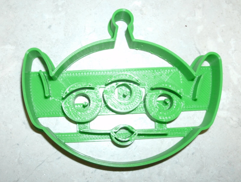 "Alien LGM Little Green Man Toy Story Disney Pixar Character Special Occasion Fondant Stamp Cutter or Cupcake Topper Size 1.75"" Made in USA FD724"