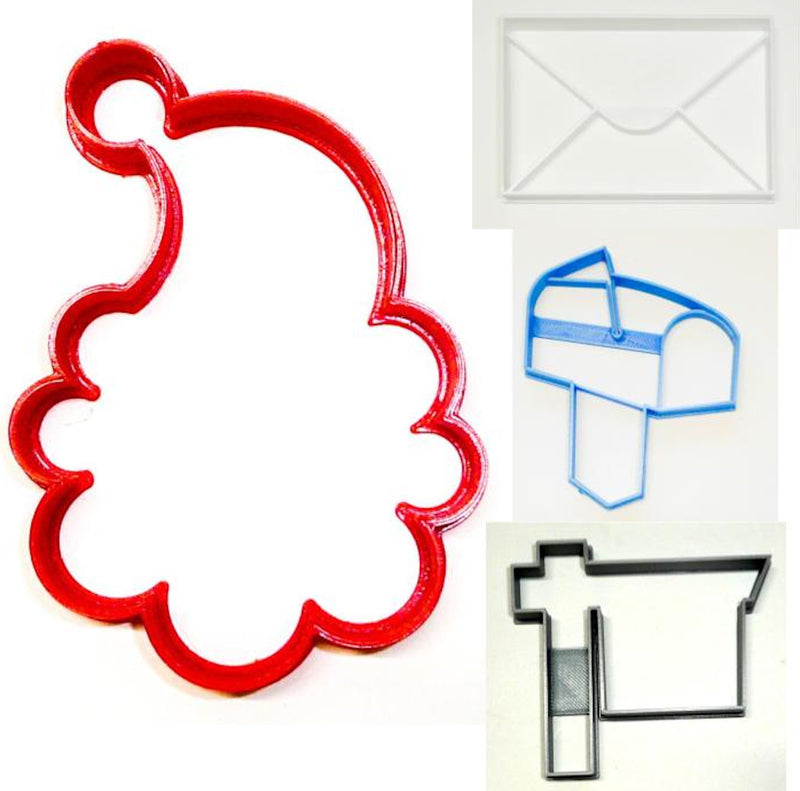 Letter To Santa Claus Mail Christmas List Set Of 4 Cookie Cutters USA PR1543