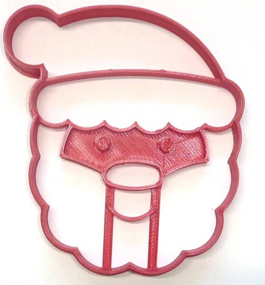 Santa Claus Face Christmas Holiday Season Cookie Cutter USA PR3981