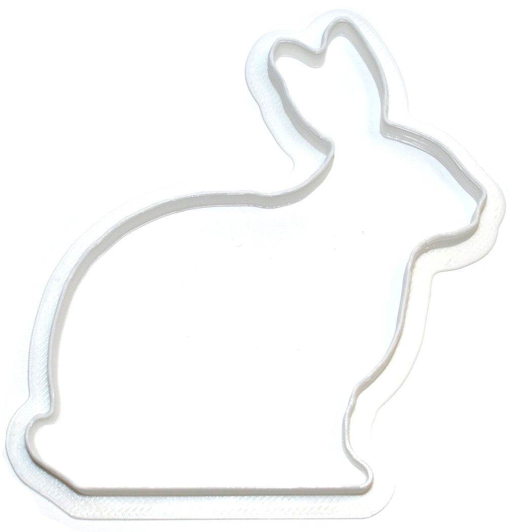 "6x Bunny Outline 2 Fondant Cutter Cupcake Topper Size 1.75"" USA FD217"
