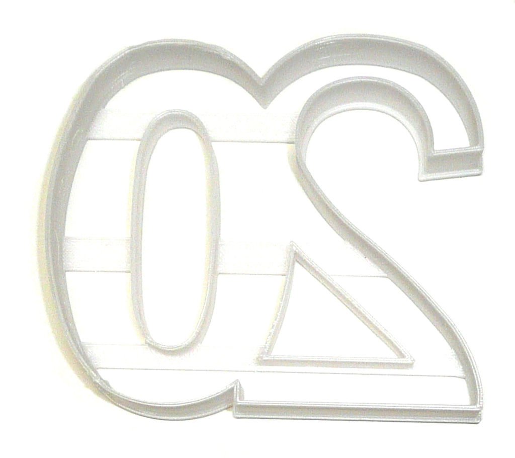 Number 20 Twenty Birthday Anniversary New Years Party Cookie Cutter USA PR108-20