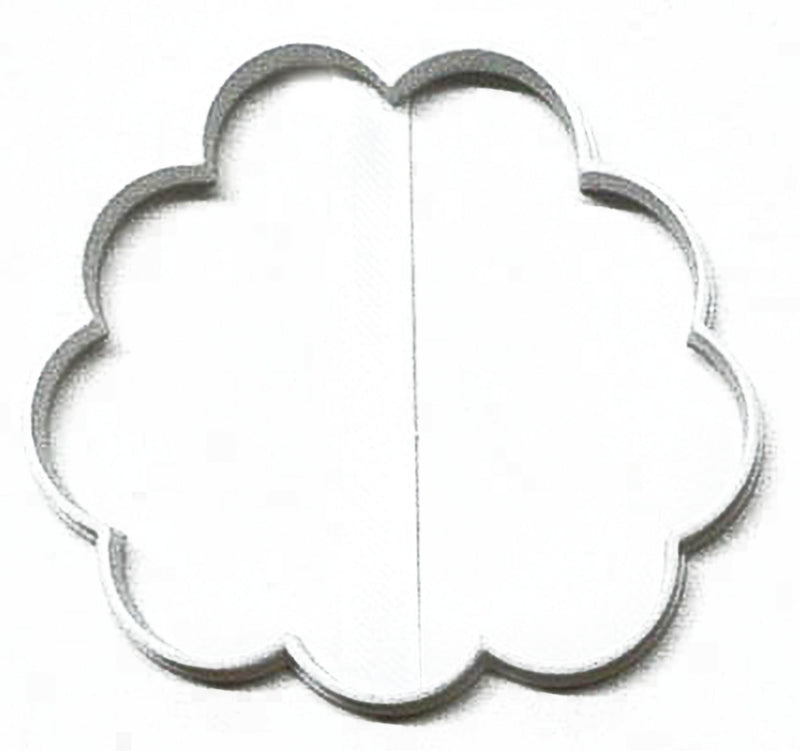 Puffy Cloud Or Peony Carnation Flower Outline Cookie Cutter USA PR3119