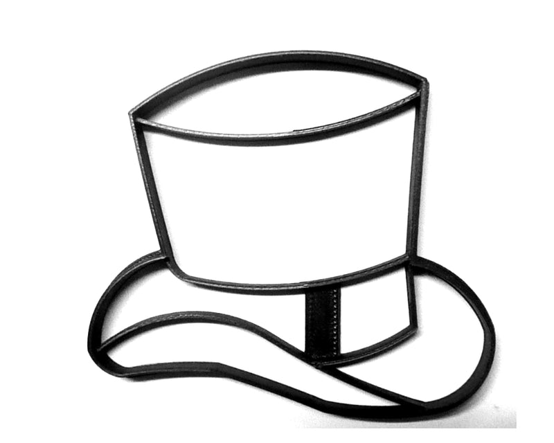 Gatsby Mens Detailed Top Hat 1920s Roaring Twenties Cookie Cutter USA PR3260