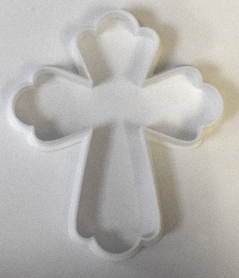 "Cross First Communion Church Special Occasion Fondant Stamp Cutter or Cupcake Topper Size 1.75"" Made in USA FD579"