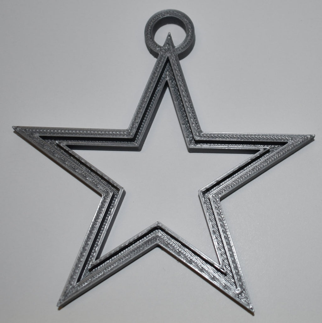 Dallas Cowboys Star NFL Football Logo Hanging Ornament Holiday Christmas Decor Made In USA PR2050