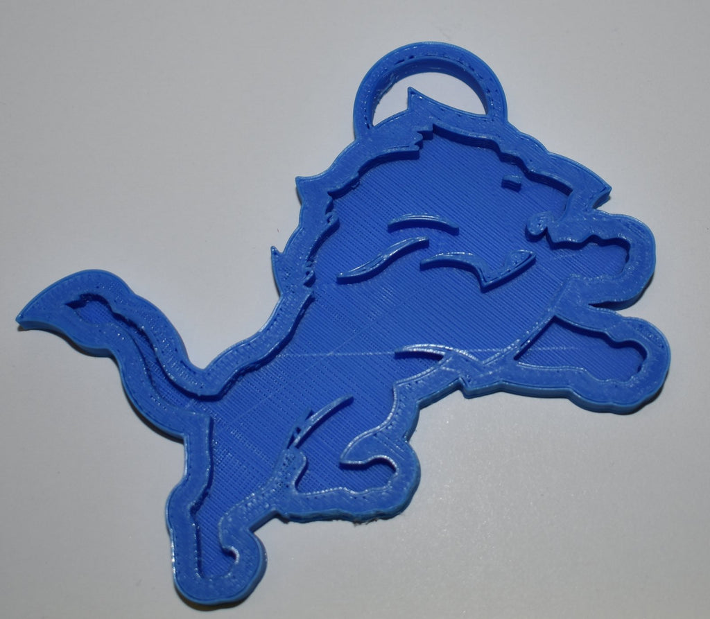 Detroit Lions NFL Football Logo Hanging Ornament Holiday Christmas Decor Made in USA PR2059