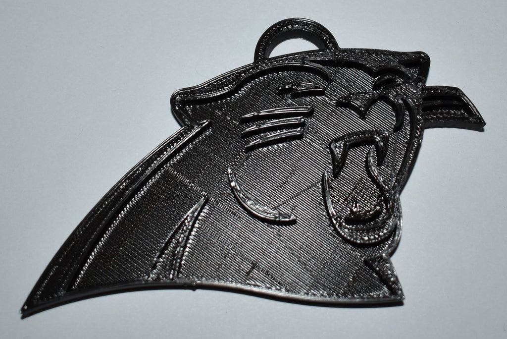Carolina Panthers NFL Football Logo Hanging Ornament Holiday Christmas Decor Made In USA PR2063