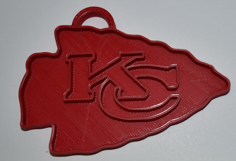 Kansas City Chiefs NFL Football Logo Hanging Ornament Holiday Christmas Decor Made In USA PR2071