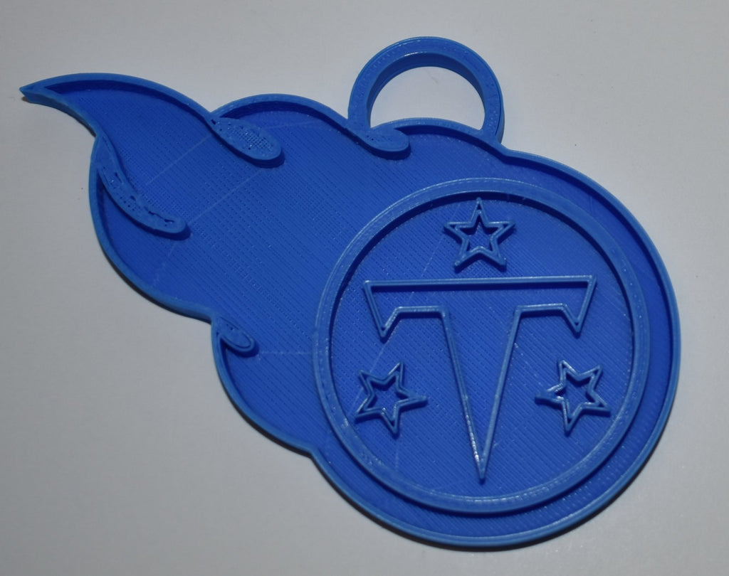 Tennessee Titans NFL Football Logo Hanging Ornament Holiday Christmas Decor Made In USA PR2081