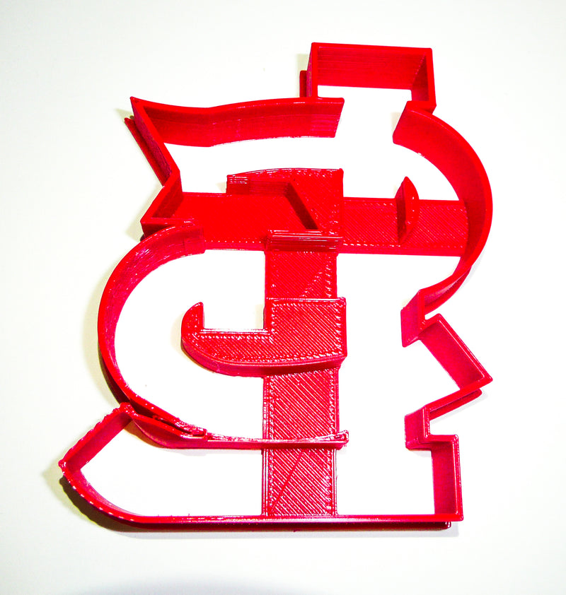 "STL St Louis Cardinals Baseball MLB Team Special Occasion Fondant Stamp Cutter Or Cupcake Topper Size 1.75"" Made In USA FD2089"