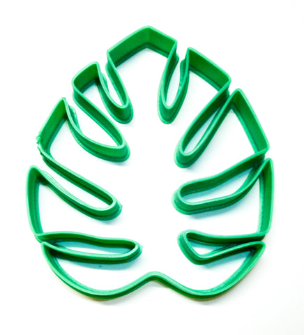Monstera Leaf Tropical Flowering Plant Trendy Swiss Cheese Houseplant Special Occasion Cookie Cutter Baking Tool Made In USA PR2158