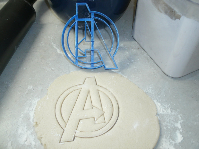 Avengers Logo Marvel Superheros Cookie Cutter Baking Tool Made In USA PR584