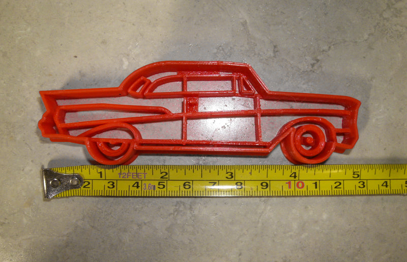 Chevy Chevrolet Bel Air Style Coupe 1957 Vintage Vehicle Special Occasion Cookie Cutter Baking Tool Made In USA PR2107