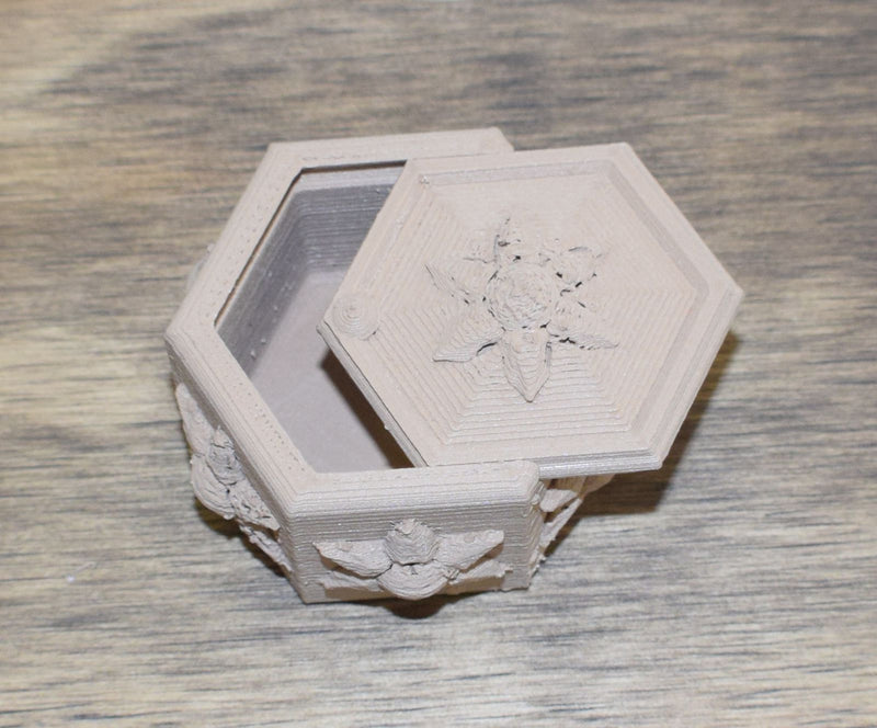 Edelweiss Box Home Decor Jewelry Ring Box Multi-use 3D Printed Made In USA PR44